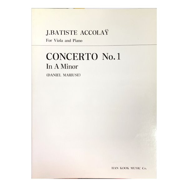 (전시상품) J.BATISTE ACCOLAY For Viola and Piano CONCERTO No.1 In A Minor (DANIEL MARIVSE)